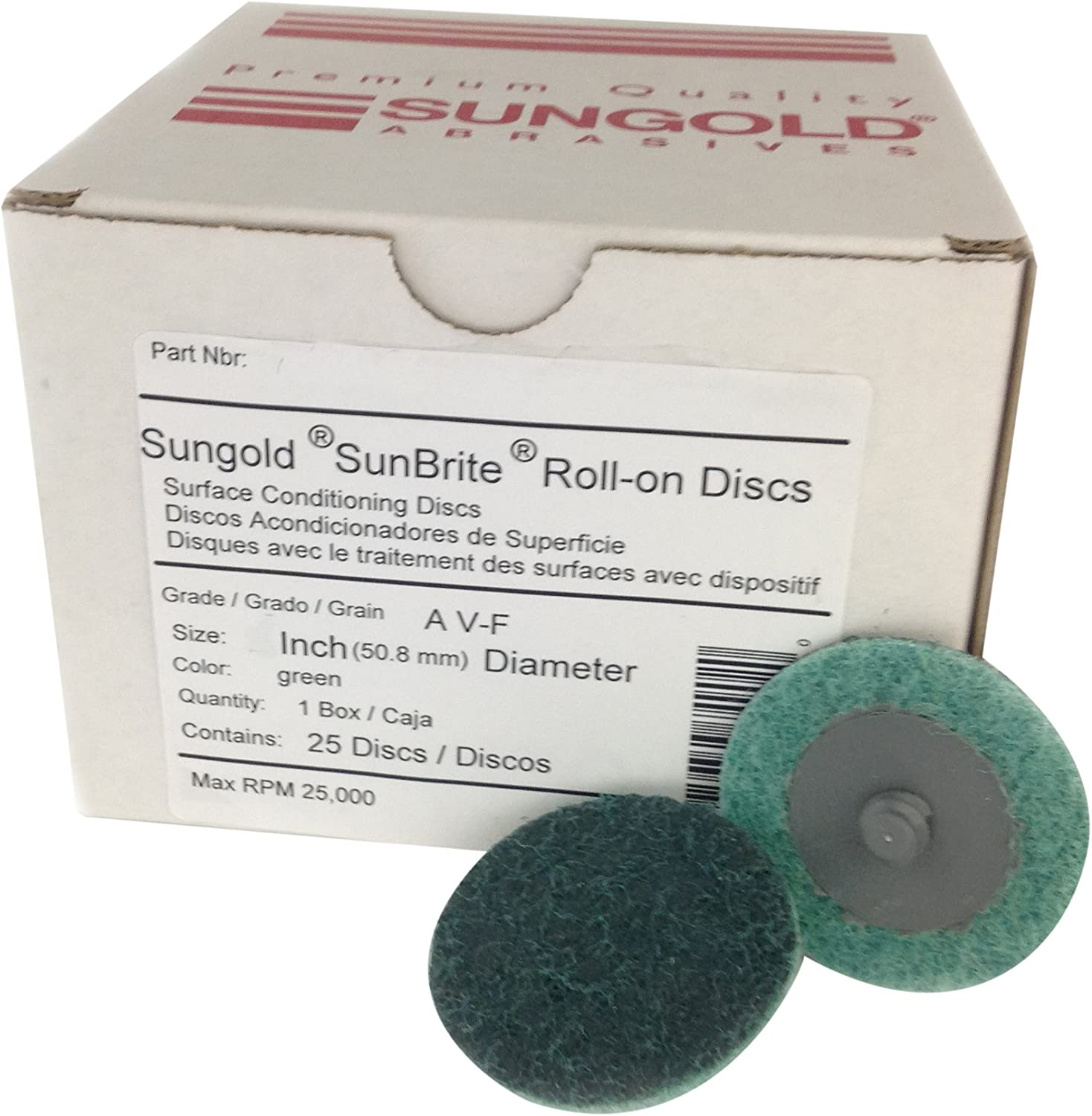 Sungold Abrasives 99082 3-Inch Type R Quick Change Disc Holder