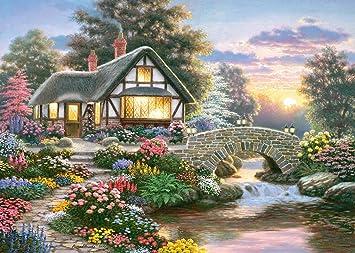 Englisches Cottage puzzle 1000 teile großes cottage heiterkeit richard burns
