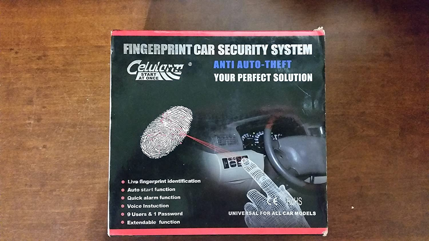 Biometric Security Fingerprint Car Starter Alarm Car