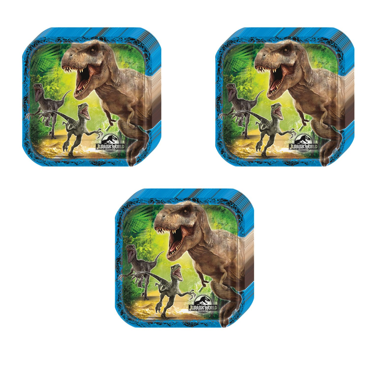 Jurassic World Party Squared Dessert Plates - 24 Pieces