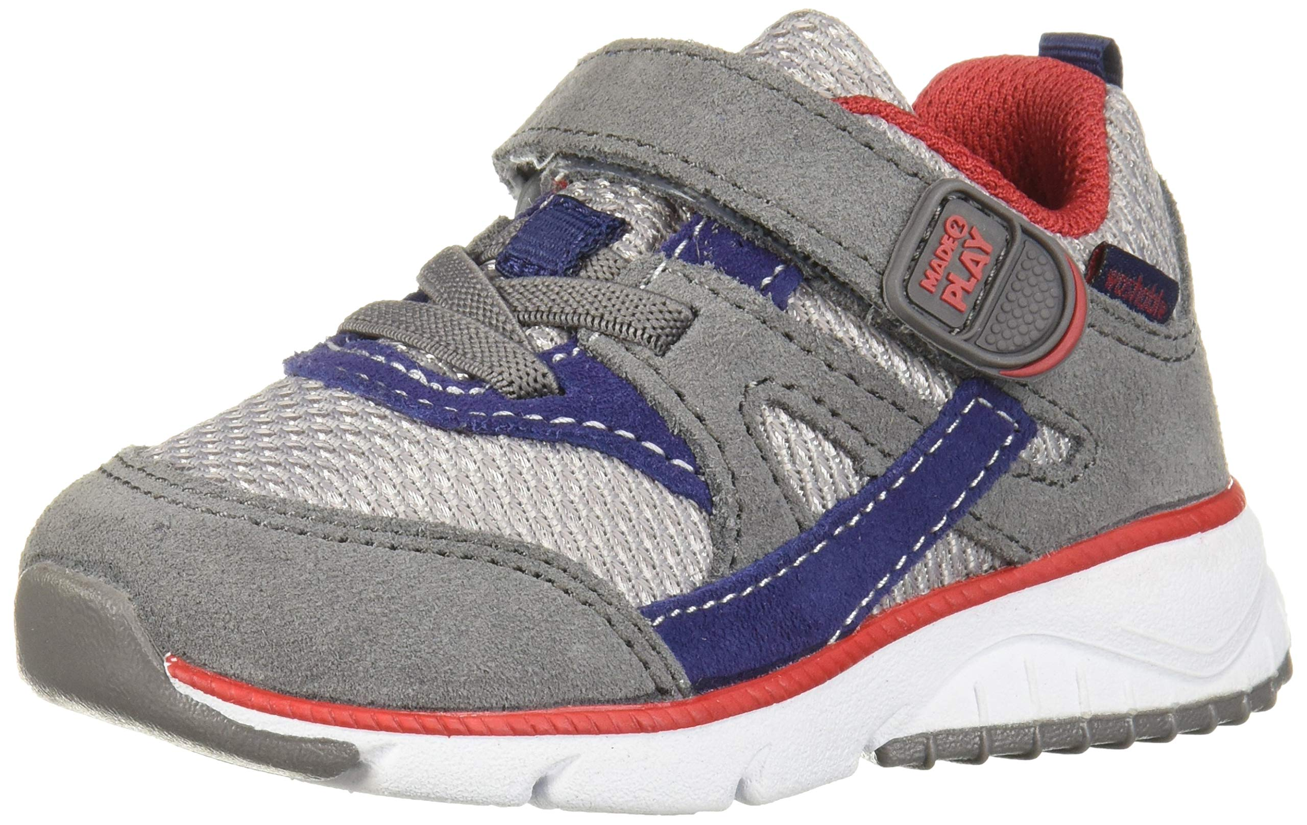 Stride Rite Boys' M2P Indy Sneaker, Navy/Grey, 10 W US Toddler by Stride Rite