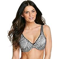 4efc811c390fd Lilyette Womens Lilyette® Plunge Into Comfort Keyhole Minimizer Bra Zebra  Print 36D