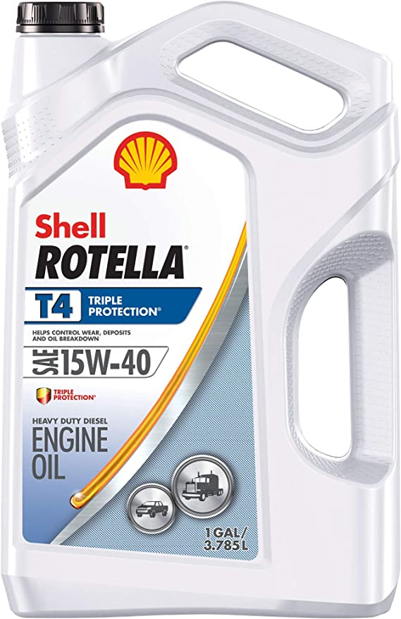 Shell Rotella T4 Triple Protection Conventional 15W-40 Diesel Engine Oil (1-Gallon
