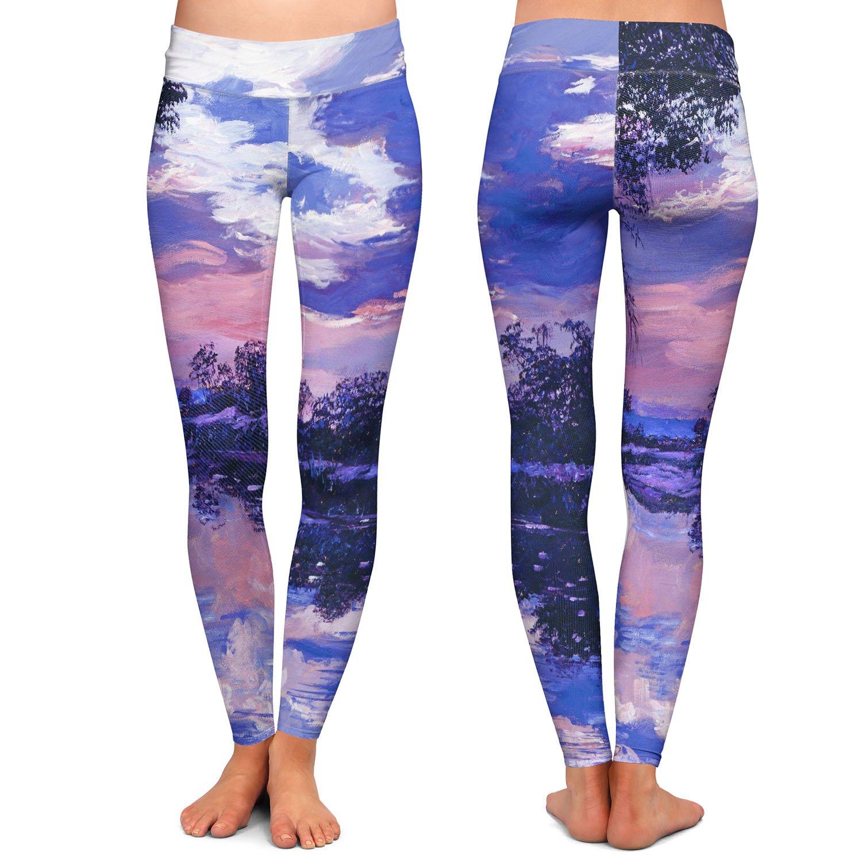 Athletic Yoga Leggings from DiaNoche Designs by David Lloyd Glover Seine River Dawn