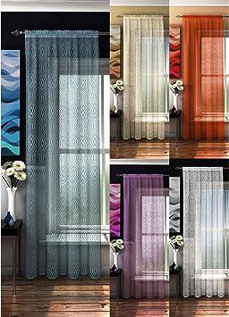 rideaux, panneau de rideau, voile, Bermudes, 142cm x 229cm, blanc ...