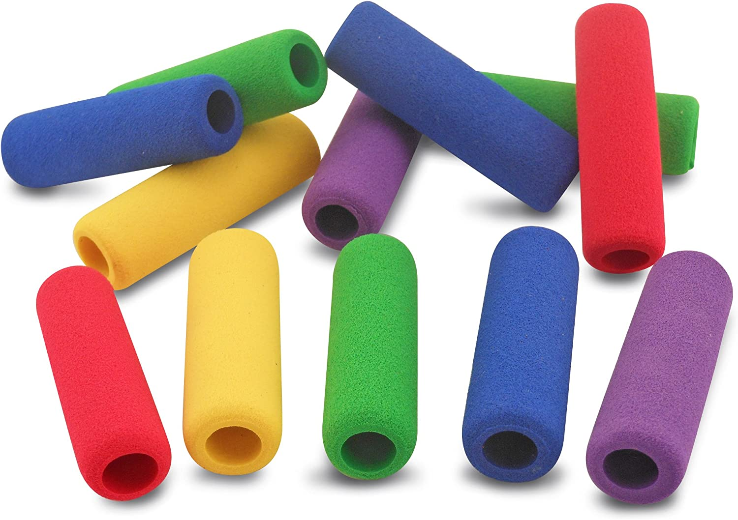 The Classics 12-Pack Soft Foam Pencil Grips, Assorted Colors, 1.5-Inch Long (TPG-16412)