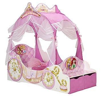 Kleinkinderbett Für Mädchen Im Kutschendesign Von Disney Prinzessin, Mit  Baldachin