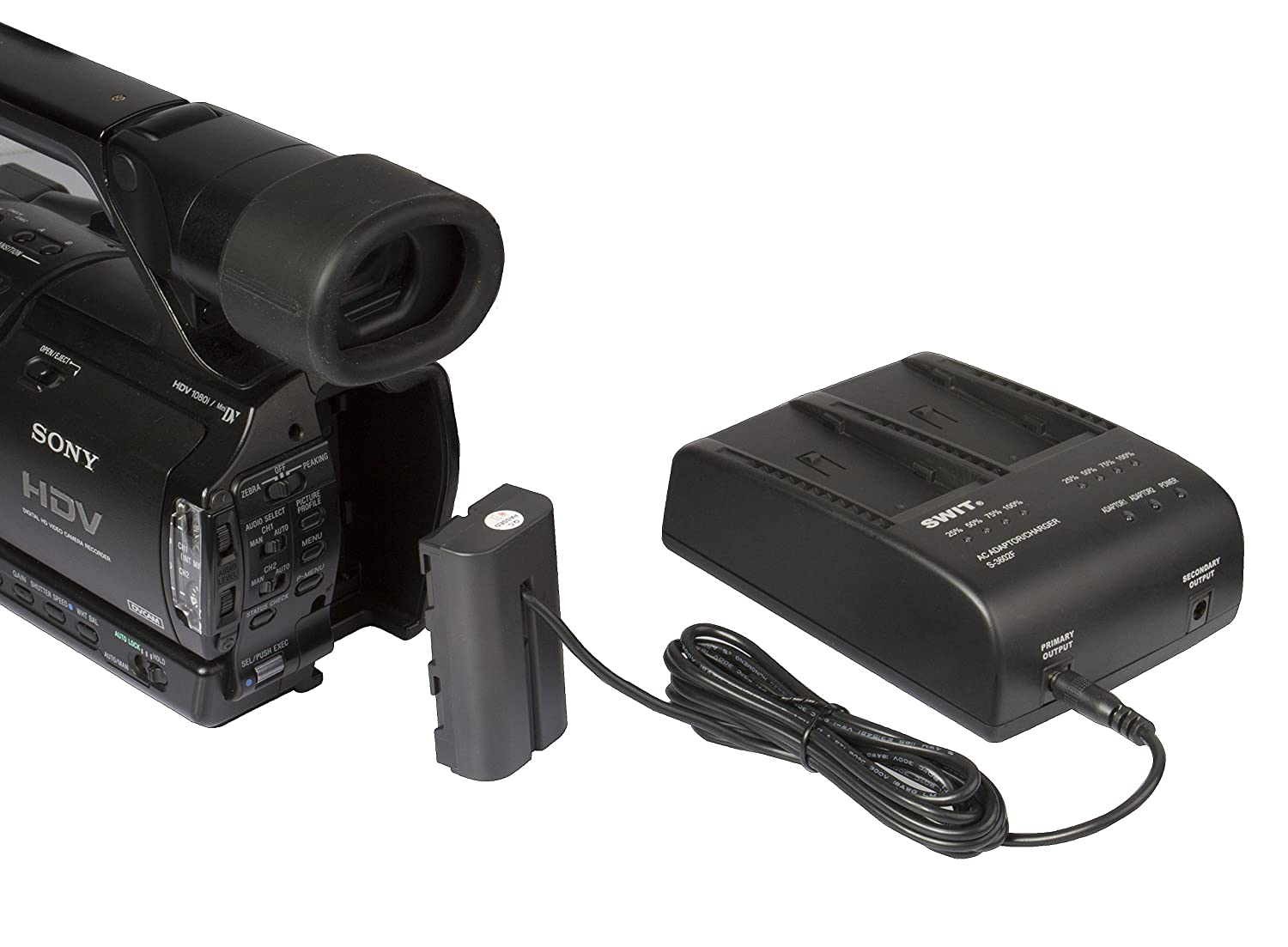 SWIT S-3602F 2-CHANNEL CHARGER//ADAPTOR FOR SONY DV BATTERY
