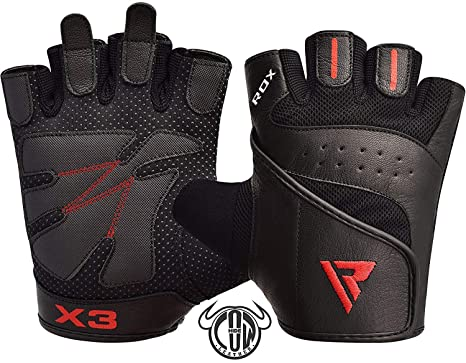 RDX Guanti Palestra Fitness Sollevamento Pesi Workout Allenamento  Antisudore Leggeri Bodybuilding Antiscivolo Polso Imbottiti Powerlifting Gym 1f0183823fe1