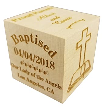 Choose from 3 Sizes Sikhism Baptism Gift for Boy Yazidism Baby Dedication Gifts 3 Blue Unique Baptism Gifts Personalized Blue Baby Baptism//Dedication//Christening Wood Block