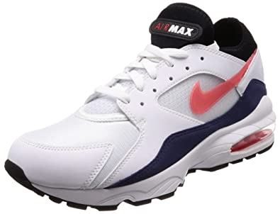 quality design 3bfce ce94d Nike Men s Air Max 93 Running Shoe White Habanero Red (9 D(M