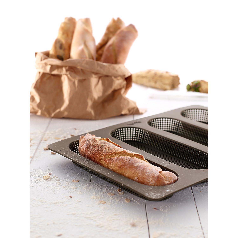Lékué Molde de Silicona para baguettes, Marrón