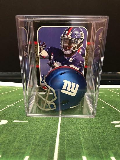 8ceaf6254 Amazon.com  New York Giants NFL Helmet Shadowbox w Saquon Barkley ...