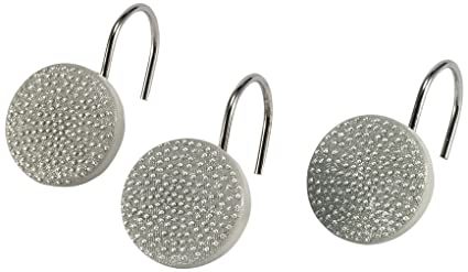Amazon Avanti Linens 13870G WHT Dotted Circles Shower Hooks