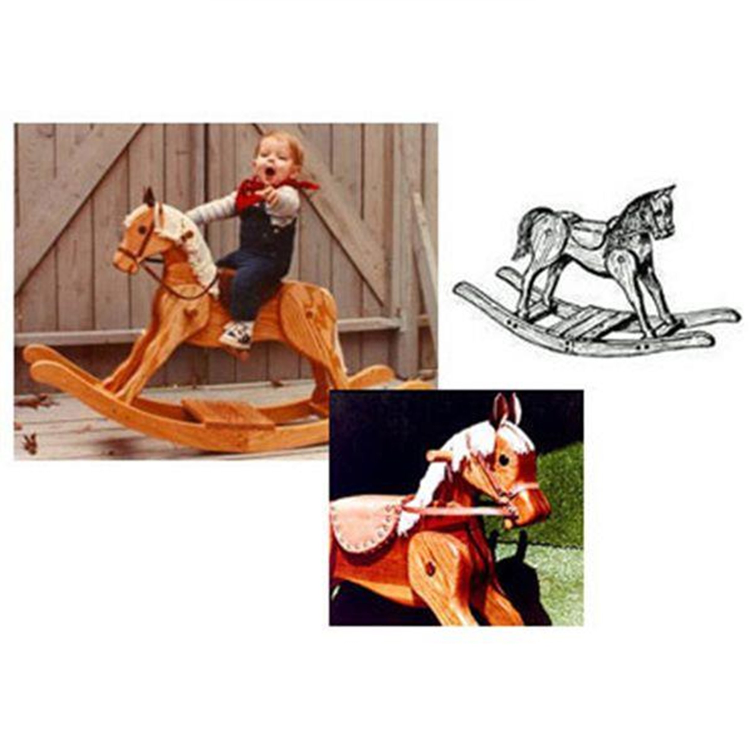 Woodworking Project Paper Plan to Build Merrilegs Rocking Horse by WOODCRAFT