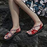 ae3b8aa4e0bf73 Galleon - Everelax Women s Flat Sandals Red Blue White 8B(M) US
