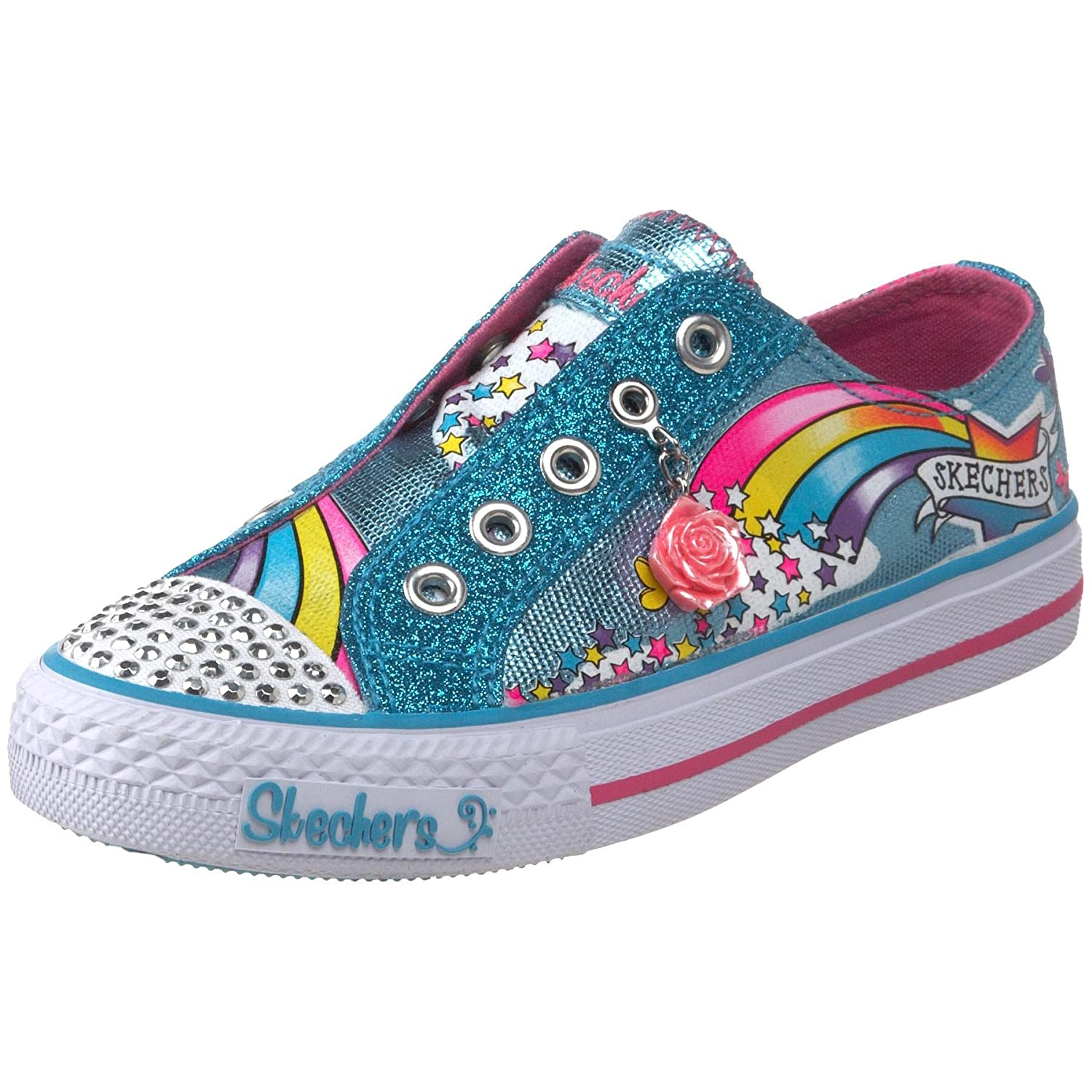 69fed6f19ae3 Skechers Twinkle Toes Shuffles Glitterazzi Light-Up Sneaker (Little Kid Big  Kid) Turquoise Hot Pink  Buy Online at Low Prices in India - Amazon.in