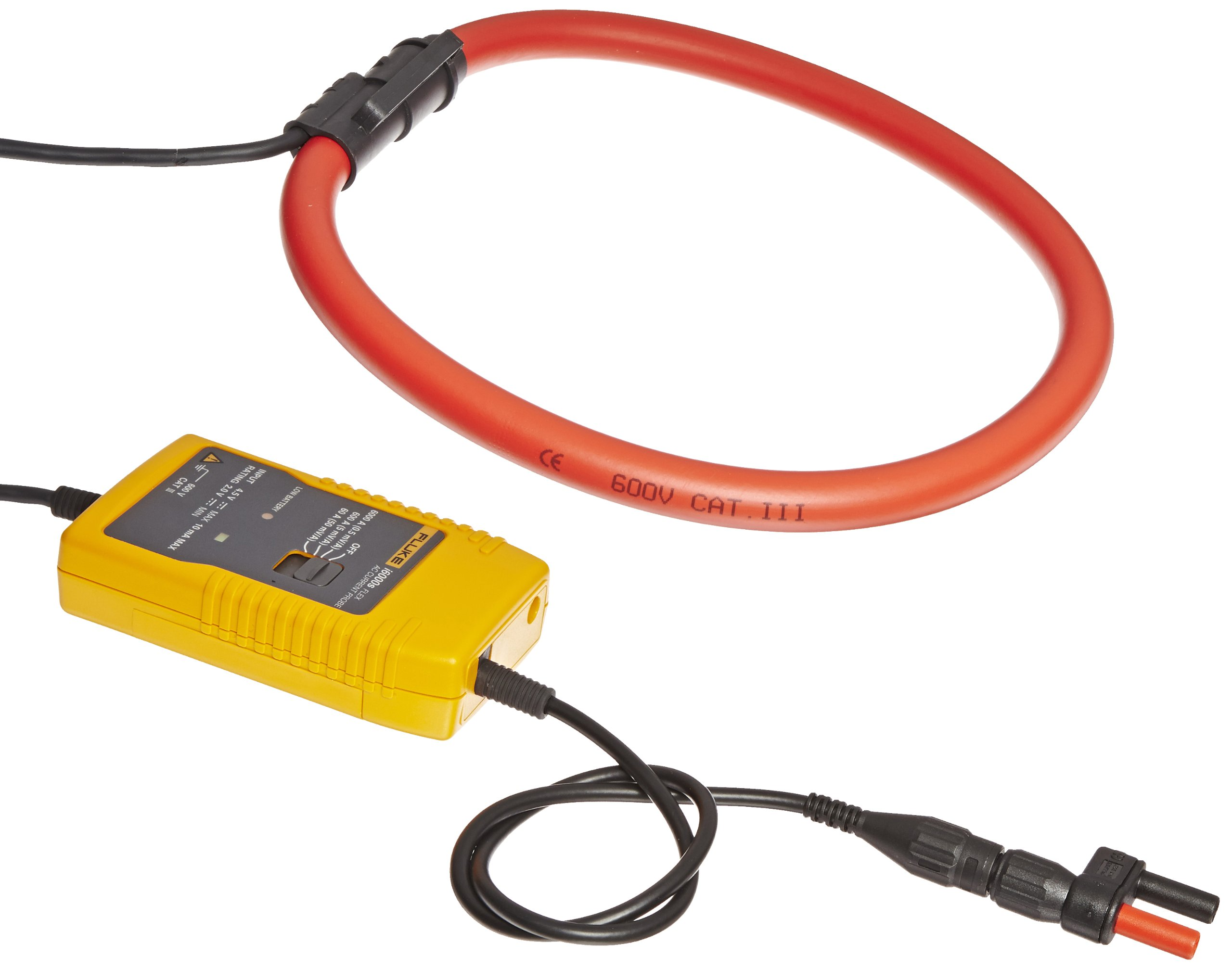 Fluke I6000S FLEX-24 AC Current Probe, 600V AC rms/DC Voltage, 6000A AC Current, 610mm Head Cable