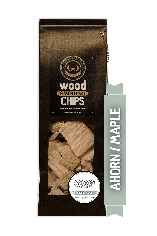 Grillgold Wood Smoking Chips – copeaux de bois d'érable pour fumage 1, 75 Liter