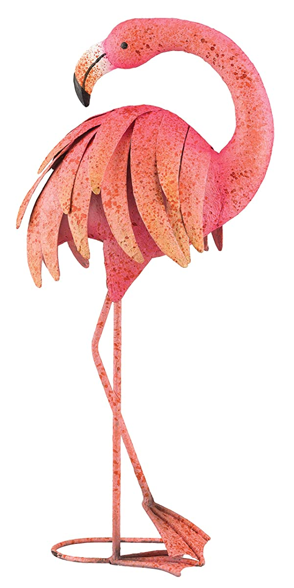 Regal Art & Gift Preening Pink Flamingo Standing Art, 25-Inch