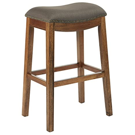 Fine Ave Six Austin Counterstool With Antique Bronze Nailheads And Kickplate With Mocha Finished Brushed Legs 31 Inch Klein Otter Fabric Caraccident5 Cool Chair Designs And Ideas Caraccident5Info