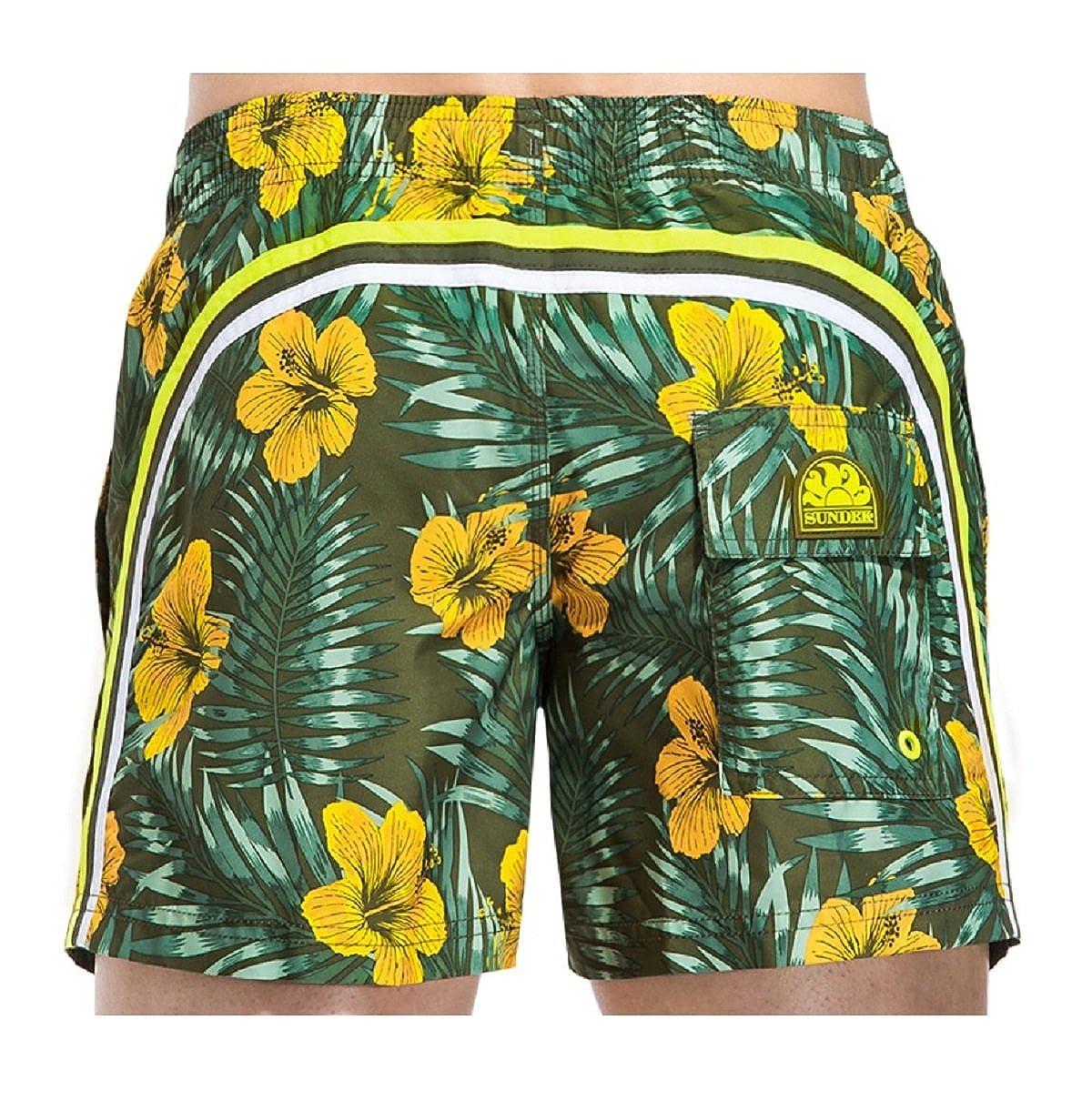 68071c0e71 Costume Sundek m504bdpbdpo1cf 302 elastic waist 14 ar green medio ss17:  Amazon.co.uk: Clothing