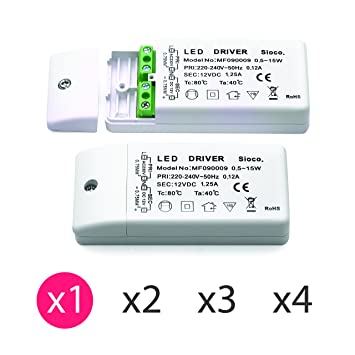0 Led 15 Transformador Lámparas 5 Para Electrónico Dc Vatios 12v 8nOk0XwP