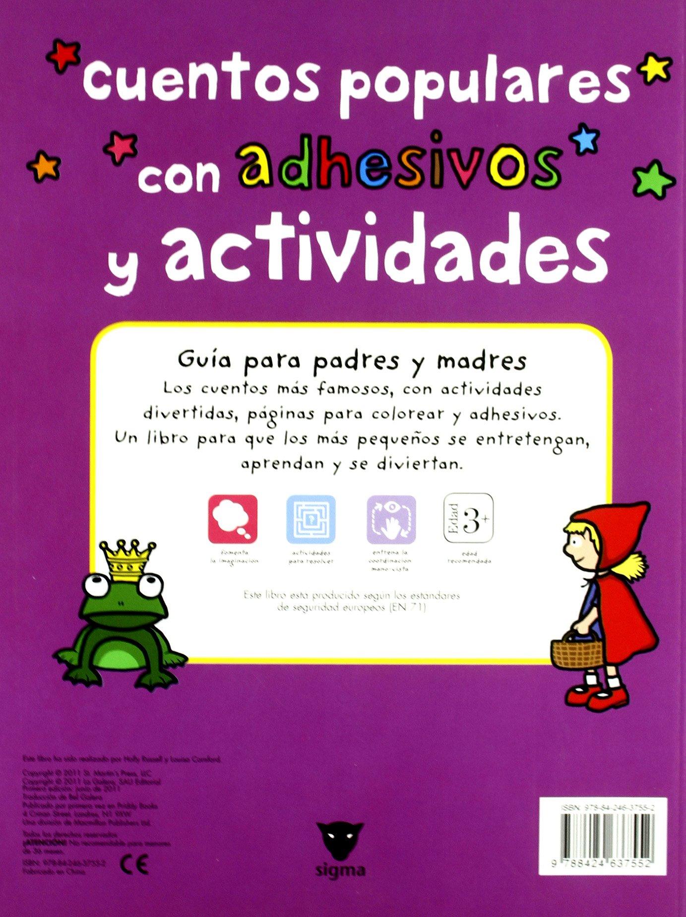 Cuentos populares: Con adhesivos y actividades Libros juego: Amazon.es: Holly Russell, Louisa Camford, Meritxell Armengol: Libros