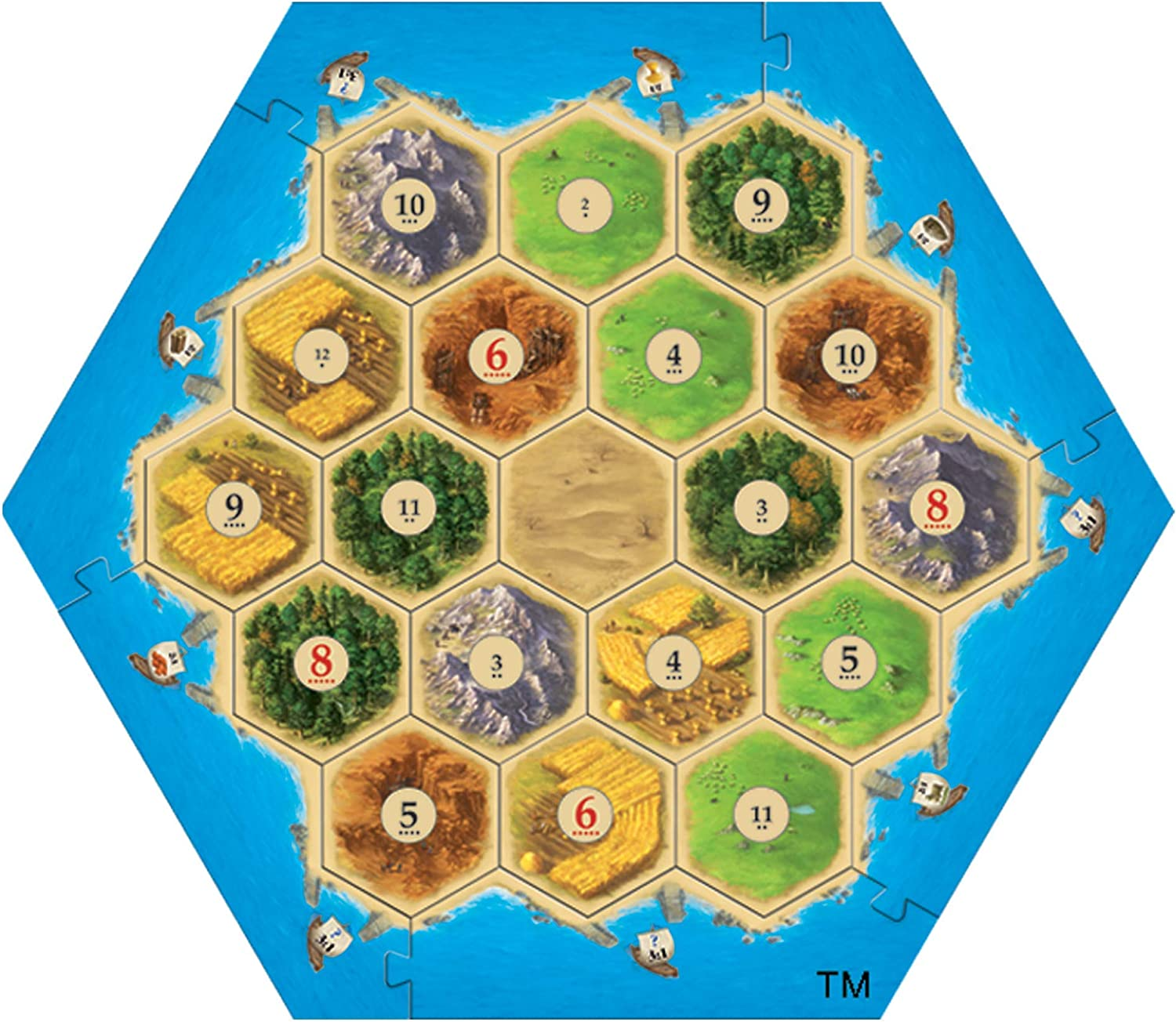 VEELIKE Catan Board Game: Amazon.es: Coche y moto