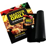 Grill Mat - Premium Quality - Set of 3 Nonstick BBQ Mats - Barbecue Utensil For Gas, Charcoal and Electric Grills - Heavy Duty, Easy to Clean - Reusable Grilling Accessories - Use as an Oven Liner