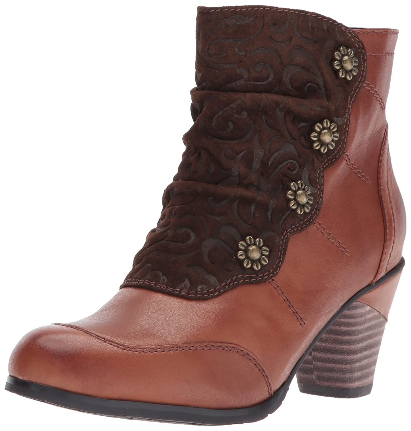 L'Artiste by Spring Step Women's Belgard Ankle Bootie B00M04NGN2 37 EU/6.5 -7 M US|Brown