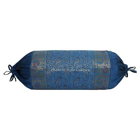 Amazon.com: Stylo Culture Indian Polydupion Cylindrical Yoga ...