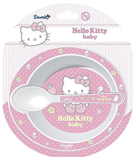 Stor - Set 2 piezas para microondas Hello Kitty rosa: Amazon ...