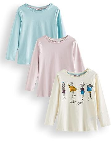 DEBAIJIA Bambino Neonata Camicia Bluse Camicette Ragazza Maniche Lunghe Magliette Tops T-Shirt Carino Mantieni Caldo Ricamo di Cotone Morbido Accogliente Pullover Vestiti per 1-4 Anni