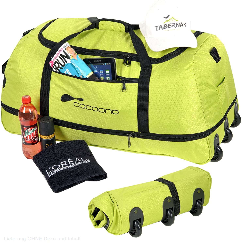Anthrazit XXL Rollenreisetasche COCOONO 100-135 Liter Volumen Reisetasche faltbar Trolley Koffer STORM Tasche