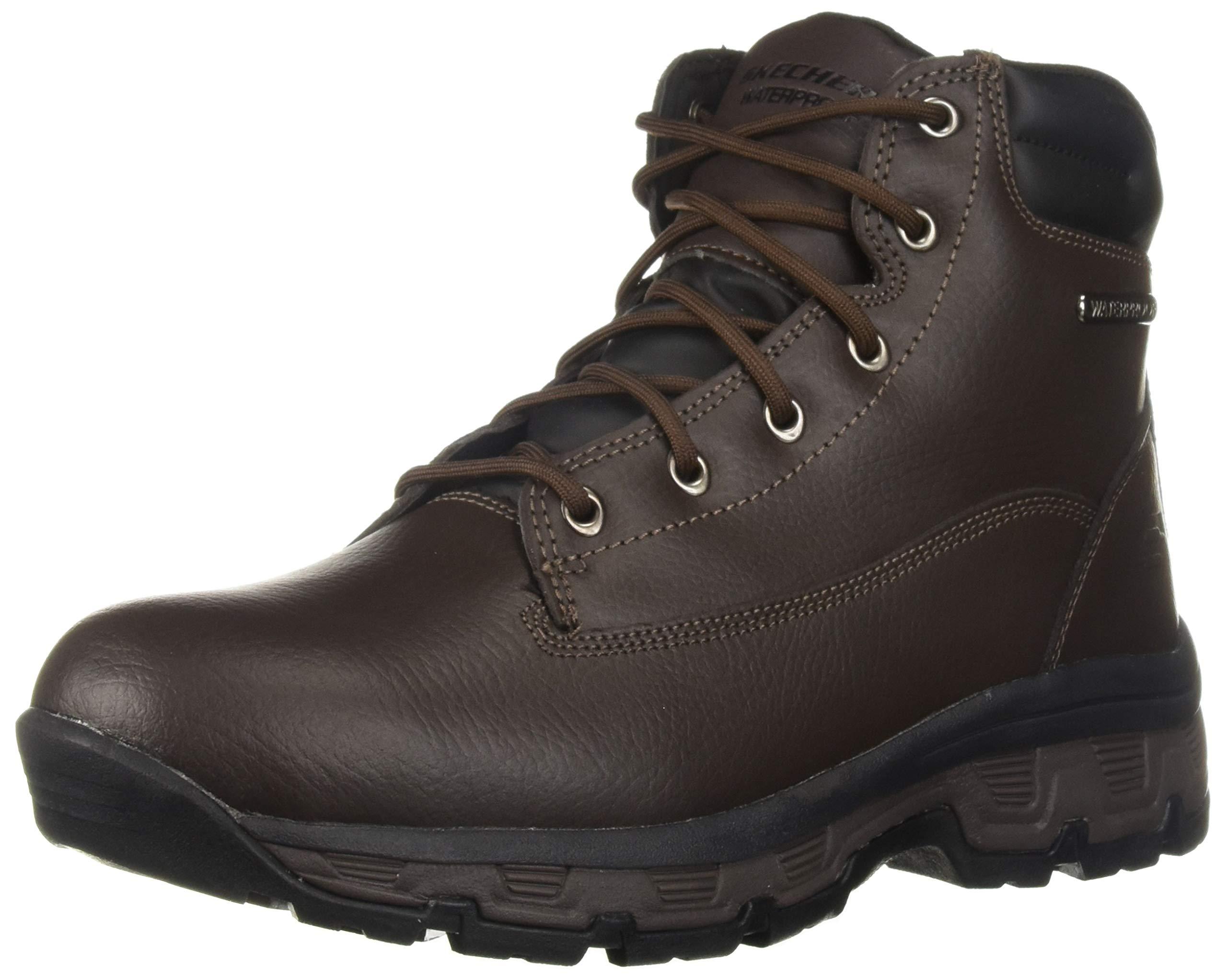 Skechers Men's Morson-SINATRO Hiking Boot, dkbr, 14