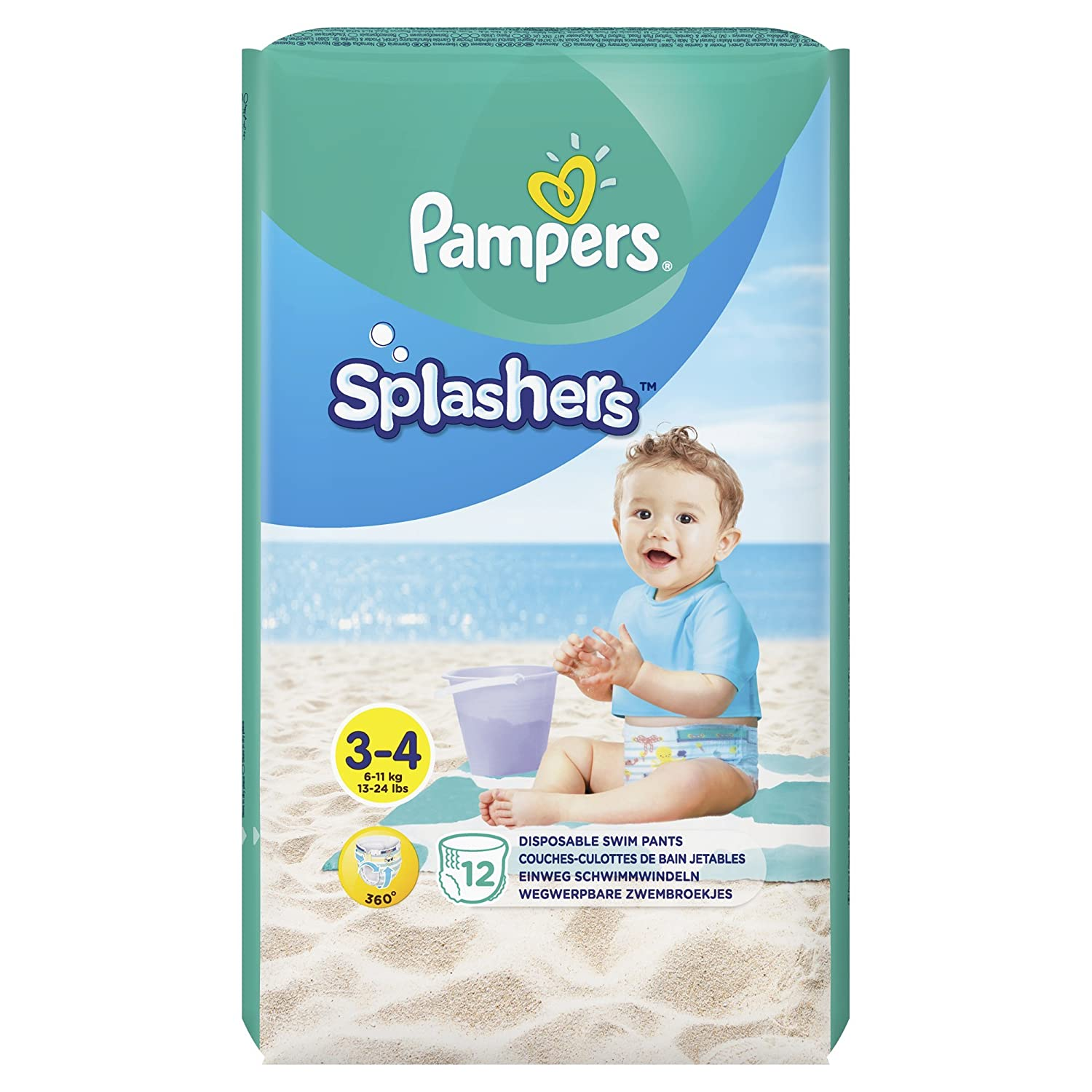 Pampers Splashers Couches Culottes De Bain Jetables Taille 3 4 1