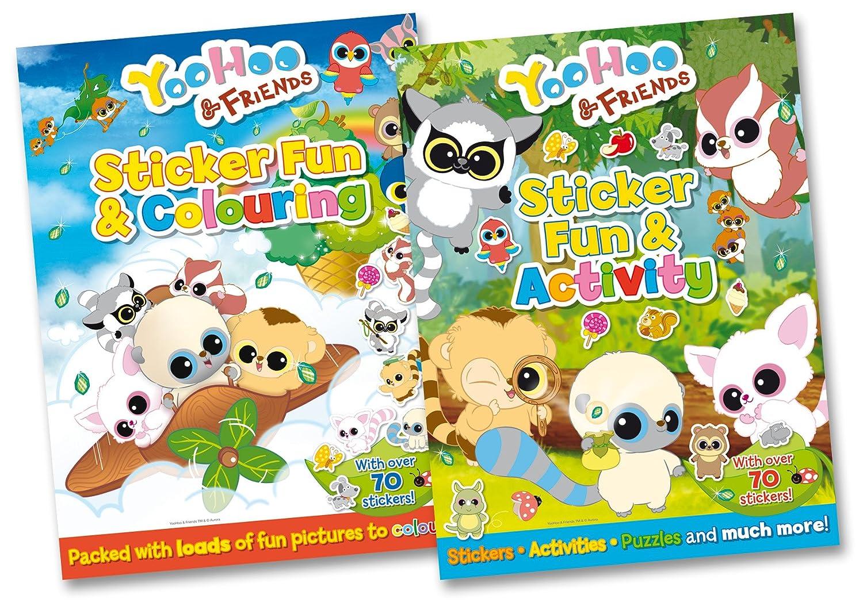 YooHoo & Friends Sticker Fun - 2 Books RRP £ 9.98 (Sticker Fun & Activity; Sticker Fun & Colouring) Award Publications Ltd