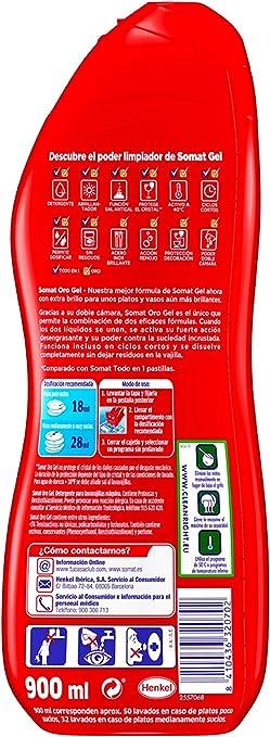 Somat Detergente Gel Lavavajillas Frescor Antiolor - 2 x 35 ...