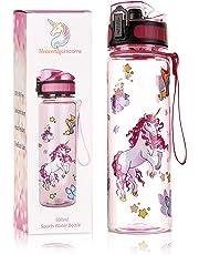 HeavenlyUnicorns | Kids Unicorn Water Bottles | BPA Free | LEAKPROOF | SHATTERPROOF | Gift Box | FREE Cleaning Brush | 500ml