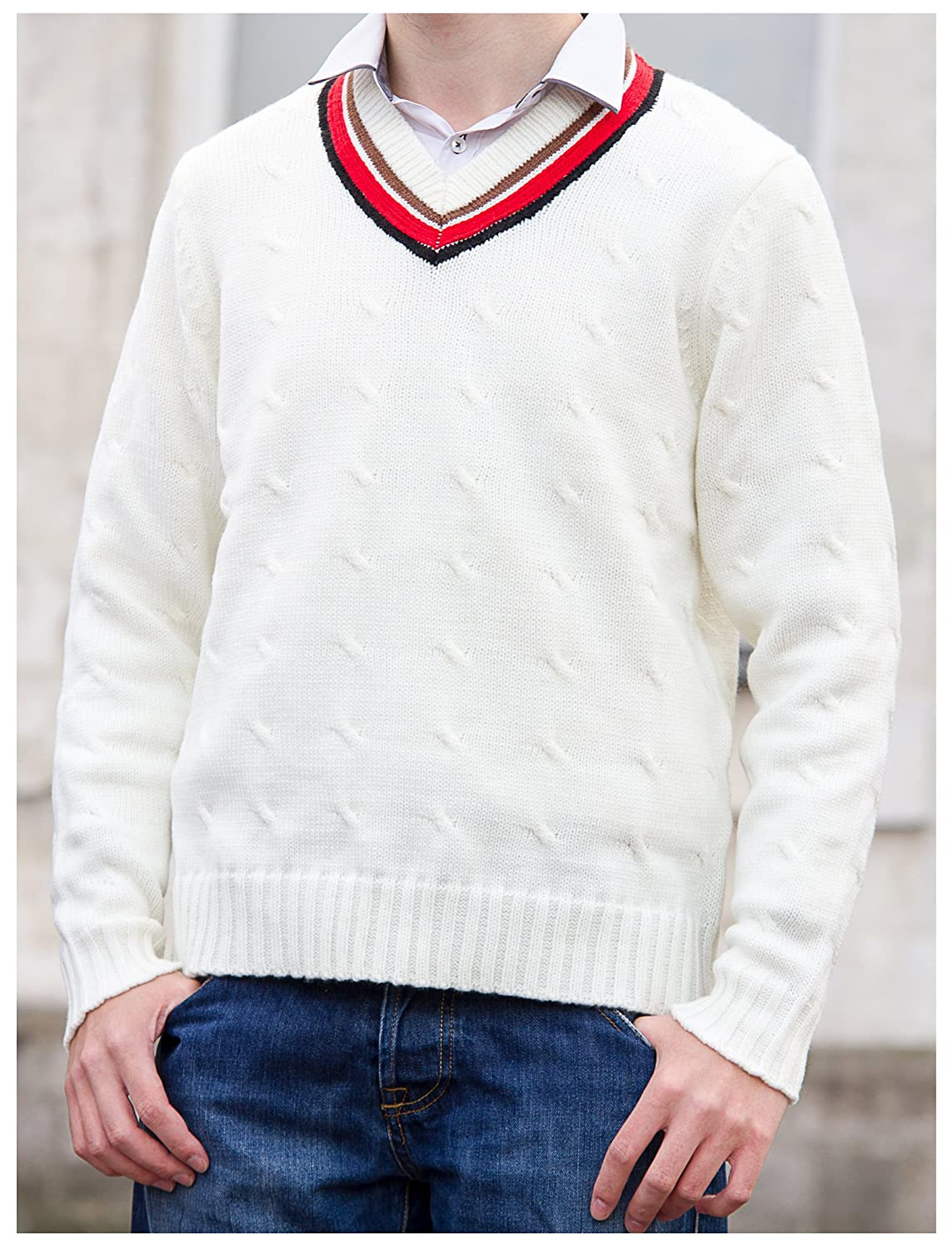 Fifth Doctor (Peter Davison) Sweater - Official BBC Doctor Who 5th Doctor Cricket Jumper by LOVARZI