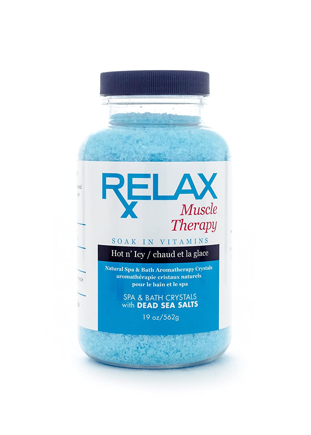 Amazon.com : Muscle Therapy Bath Salts -19 Oz- Therapeutic Natural ...
