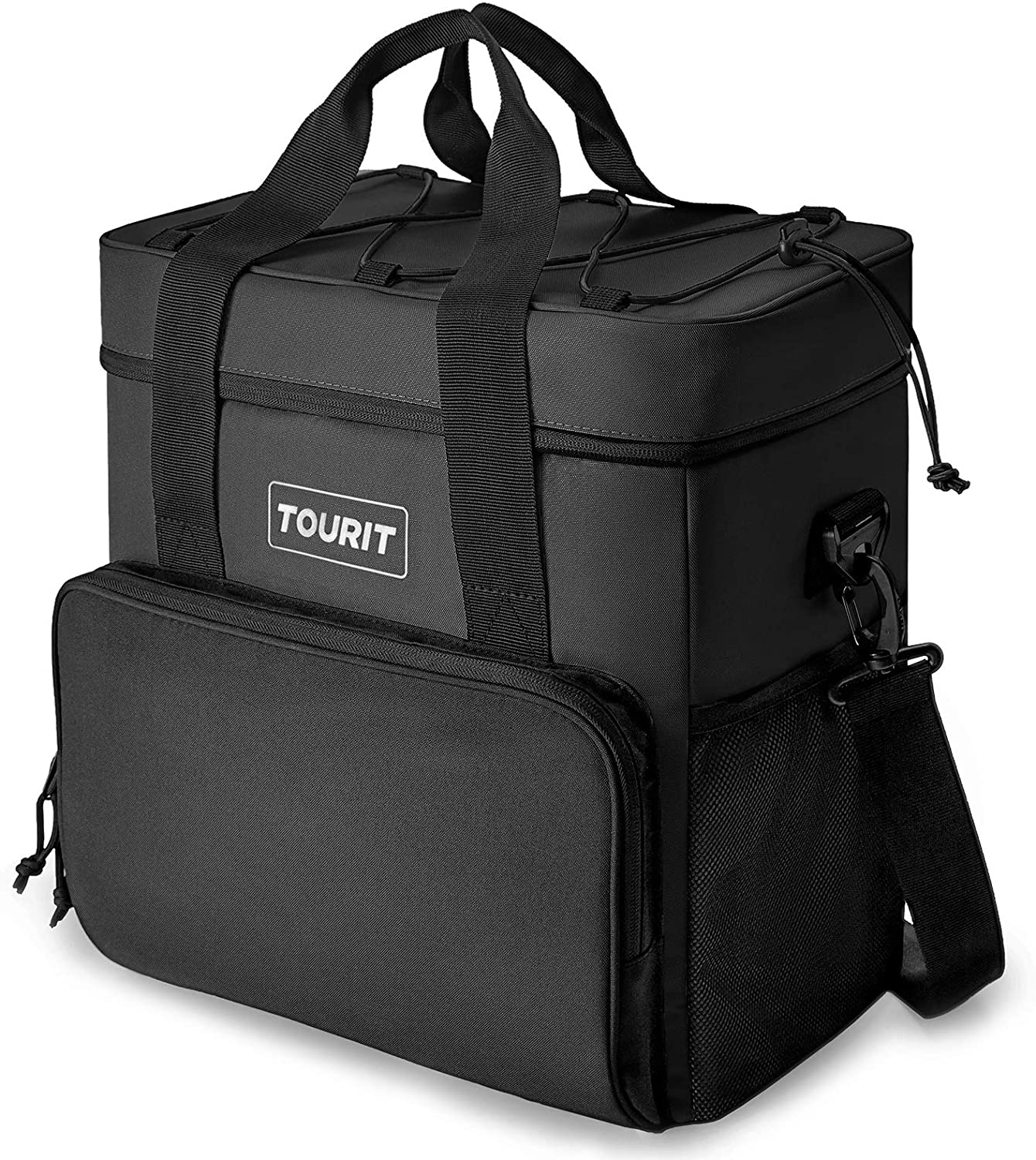 TOURIT Cooler Bag 35-Can Insulated Soft Cooler Portable Cooler Bag 24L Lunch Coolers for Picnic, Beach, Work, Trip, Black