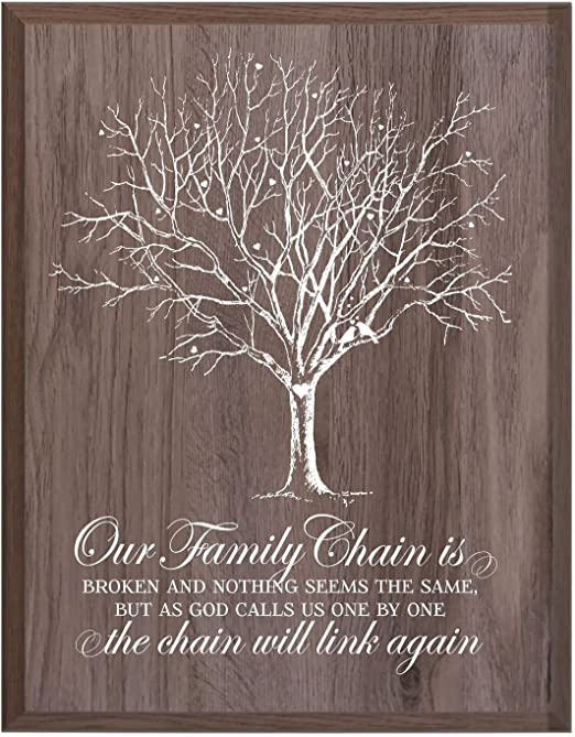 Personalised loss of a Dad Mum Auntie Son Husband daughter tree decoration