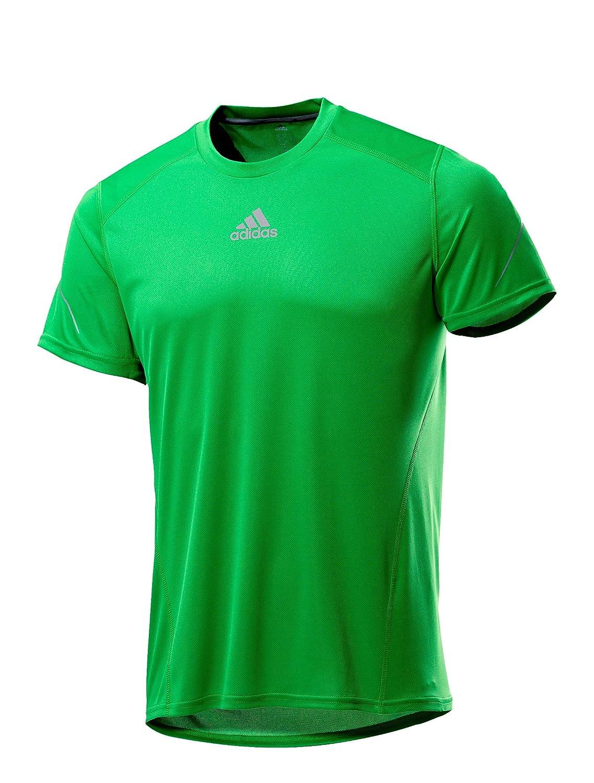 adidas Performance Herren Laufshirt grün S: : Sport