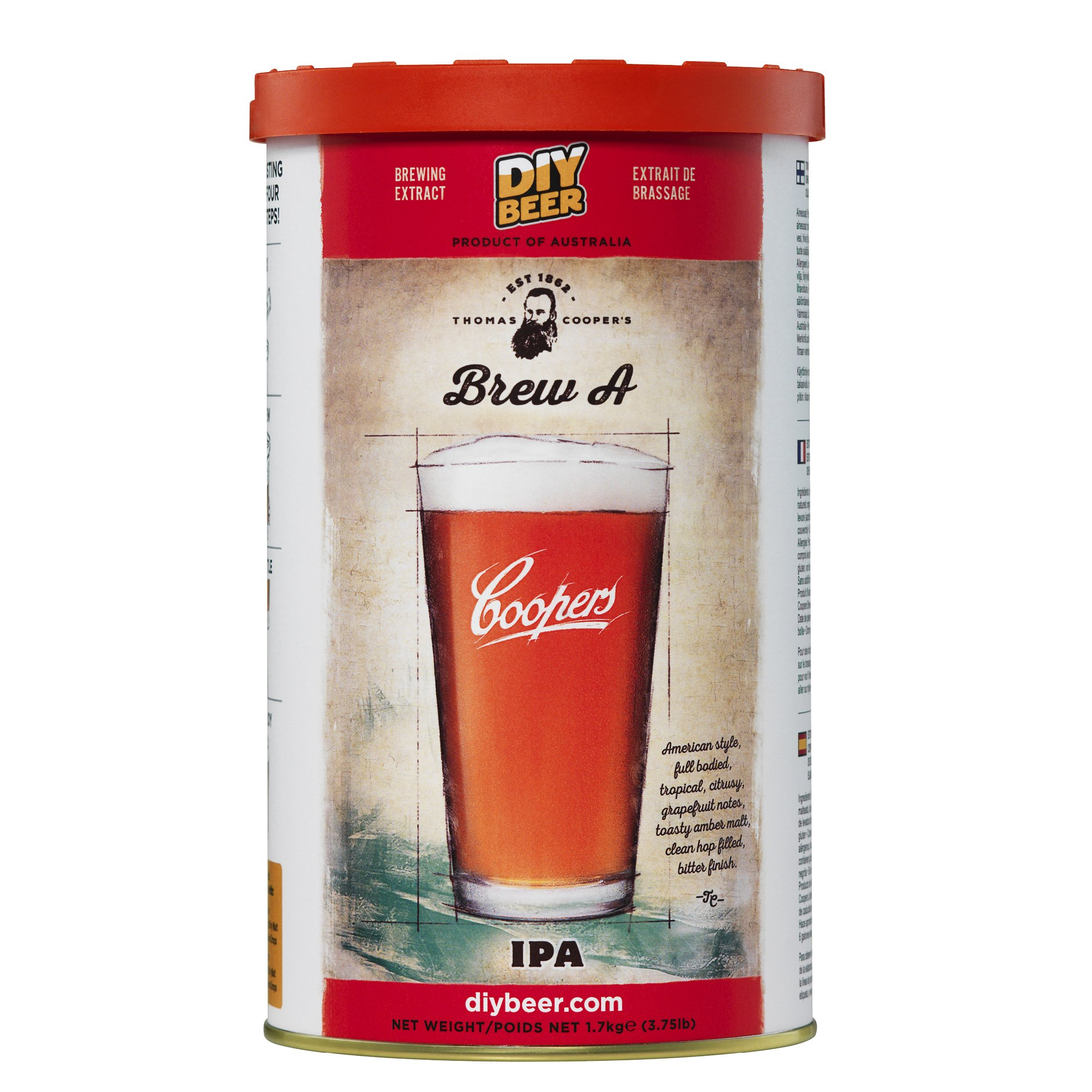 Coopers DIY Beer Thomas Coopers Brew A IPA Homebrewing Craft Beer Brewing Extract