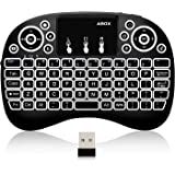ABOX i10 Mini Wireless Keyboard, 2.4GHz Multi-media Portable Handheld Keyboard with Touchpad Mouse for Android tv box, Projector, XBox 360, PC, PAD, PS3