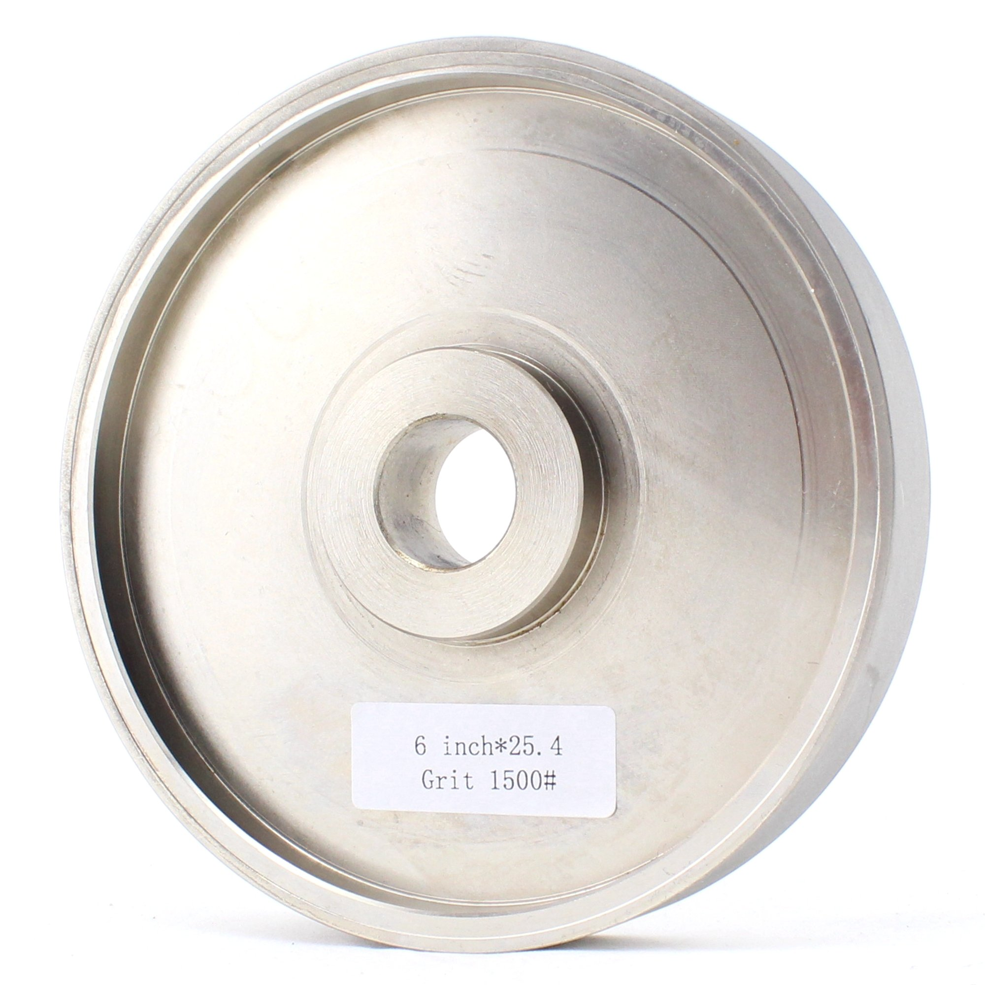 JINGLING 6'' inch Diamond Electroplated Facing Grinding Wheel Bore Size 1'' Grit 1500 for Lapidary Gems Glass Tile Marble Pack of 1 Piece by JING LING