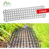 Gardigo Fence Wall Indoor Spikes | Anti Bird, Pigeons, Crows, Seagulls, Dogs and Cats Control Deterrent Repels | 6 Strips