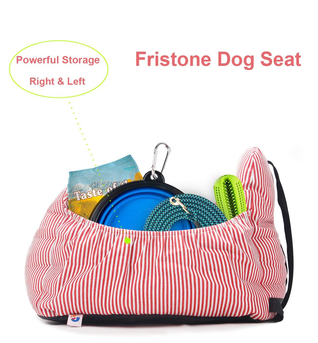 Asiento Elevador de Seguridad para Mascotas con Bolsillo de Almacenamiento. FRISTONE Asiento de Coche para Perro Impermeable